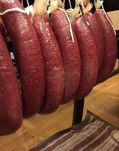 I'm not a huge fan of processed meat products, so I'll show you how to make ring bologna at home. Learn how to prepare, stuff and cook a fresh sausage with Venison Ring Bologna Recipe, Deer Bologna Recipe, Smoked Bologna Recipe, Bologna Recipes, Salami Recipes, Homemade Sausage Recipes, Jerky Recipes, Venison Recipes, Meat Recipes