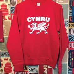 Welsh Sweatshirt. Wales Sweatshirt. Welsh Sweater. Welsh Gifts. Welsh  Souvenir. Love Wales. Welsh Dragon. Wales Gift 996d57a8c
