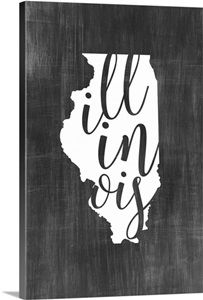 Chalkboard Art - Home State Typography - Illinois wall art by Inner Circle from Great BIG Canvas. Chalkboard Designs, Chalkboard Art, Sea To Shining Sea, State Outline, Inner Circle, Framed Prints, Canvas Prints, Big Canvas, Bedroom Art