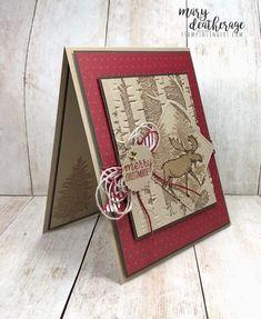 Stampin Up Christmas, Christmas Cards To Make, Xmas Cards, Holiday Cards, Cards Diy, Christmas Moose, Winter Christmas, Christmas Ideas, Christmas Crafts