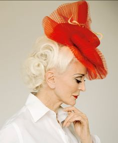 Carmen Dell'Orefice - one of the great models, began with Vogue 1947 ~ still working (Albert Ferreti, 2011) ... awesome