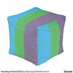 Vanishing Trails B/P/G Cube Pouf