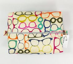 Back in Stock!  Glasses Toiletry Bag http://ift.tt/1LMhqo9  #cosmeticpouch #toiletrybag #doppbag #fabric #etsy #etsyshop #fireboltcreations #traveler #vacation #travel #etsyseller #sunglasses  #shoplocal #january #glasses #nerdy #optometry #optometrist #gift #giftideas #gifts #handmade #colorful #zipperbag #zipperpouch #design #monday #shopping #handcrafted