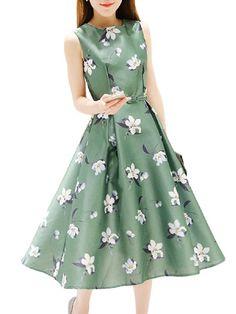 6d989413d2ace8 OUMY Women Floral Printed A-line Long Maxi Dress Floral