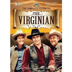 The Virginian: The Complete Sixth Season (DVD) Color: Y. Classic Tv, Classic Movies, James Drury, The Virginian, Tv Westerns, Old Shows, Vintage Tv, Old Tv, Good Looking Men