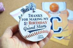 Baseball 1st Birthday Party Favor Gift Tag, Baseball Thank You, Personalized Gift Tags, ANY AGE, Sports Labels, Fast Service, Handmade,Sport