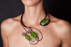 Vanity+Style+Wire+Wrapped+Necklace+by+Bijoutistique+on+Etsy,+$27.00