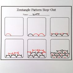 Afbeeldingsresultaat voor zentangle patterns for beginners