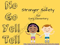"""Stranger Safety for Elementary Students from sra casado on TeachersNotebook.com -  (24 pages)  - This product is geared toward elementary students to teach them about """"safe"""" and """"unsafe"""" strangers.  It includes games, activities, and worksheets."""