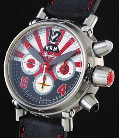 BRM's watches are big and loud and kind of dumb--but also kind of awesome. Amazing Watches, Cool Watches, Watches For Men, Brm Watches, Sport Watches, Patek Philippe, Devon, Most Popular Watches, Aftershave