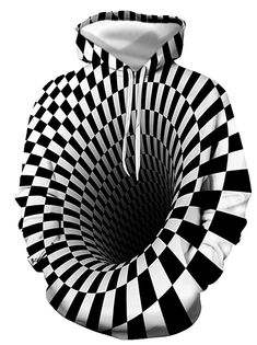 Men's Graphic optical illusion Plus Size T-shirt Print Long Sleeve Daily Tops Streetwear Exaggerated Round Neck Rainbow 2020 - US $17.24 Hoodie Sweatshirts, Pullover Hoodie, Mens Dressing Styles Casual, Basic Hoodie, Top Streetwear, Mens Attire, Plus Size T Shirts, Mode Outfits, Mens Clothing Styles