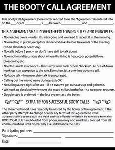 dating contract funny