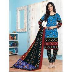 Bandhani Print Dress Material