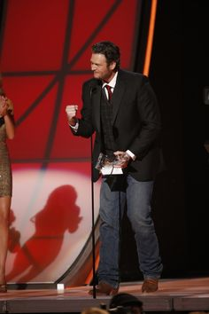 A big winner of the night - Blake Shelton!