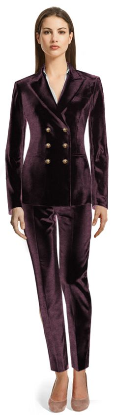 Pant Suits for Women Red Velvet Suit, Velvet Pants, Pantsuits For Women, Design Your Own, Fitness, How To Make, Collection, Corduroy Pants