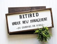 Retirement Sign Wood Sign Retirement Party Gift Funny Retirement Gift Retirement Present Retire Retirement Gifts For Men, Retirement Parties, Retirement Ideas, Retirement Celebration, Retirement Messages, Military Retirement, Happy Retirement, Birthday Parties, Rustic Bathroom Decor