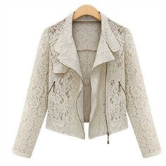 Embroidered Lace Floral Outerwear Jacket