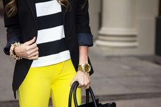 Yellow and nautical.