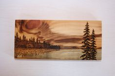 Sunset - Art Block - Wood burning