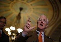 Cornyn to SCOTUS nominees: 'Nice legal career you have there. Shame if something happened to it.'  Sen. John Cornyn (R-TX), Mitch McConnell's deputy, threatened potential Supreme Court nominees that they'd get beat up and their careers would be damaged by the Senate if President Obama even nominates them.