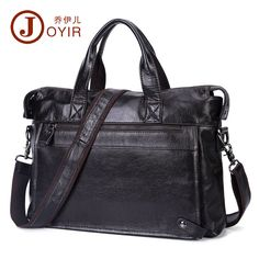Genuine Leather Men Laptop Briefcase Attache Messenger Shoulder Portfolio Bag #Unbranded #BriefcaseAttache