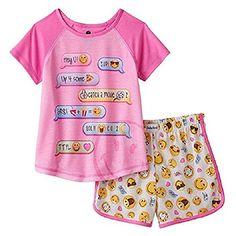 af13092a805 Smiley World Texting Conversation Emoji 2-pc Pajama Set - Girls Emoji  Pyjamas