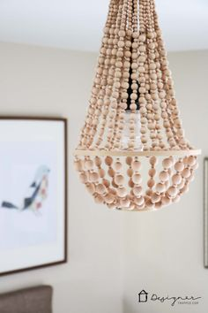 Gus lula making a wood bead chandelier diy lighting diy chandelier from wood beads aloadofball Choice Image