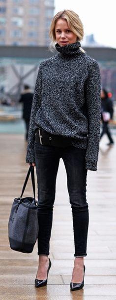 Skinnies & Turtle neck sweater