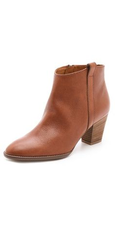 Leather boots for fall.