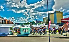 Food festival in Skien. HDR. Photo By. Knut Erik Blom Food Festival, Hdr, Times Square, Fair Grounds, Photography, Travel, Photograph, Viajes, Fotografie