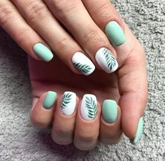 20 spring nail art ideas you can try Short and simple Short Gel Nails, Acrylic Nails Coffin Short, Simple Acrylic Nails, Summer Acrylic Nails, Best Acrylic Nails, Simple Nails, Coffin Nails, Cute Nails, Pretty Nails