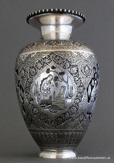 esfahan silver vase , by Laiichi, Iran