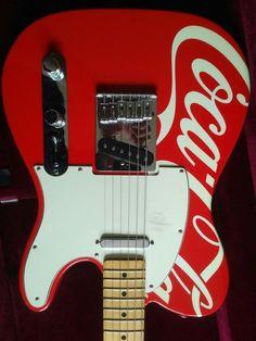 Rare Coca Cola Fender Guitar