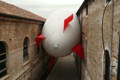 """SCIAME DI DIRIGIBILI""/Zeppelin Swarm (2009) / Photograph by HÉCTOR ZAMORA (Mexico), for the 53rd Venice Biennial."