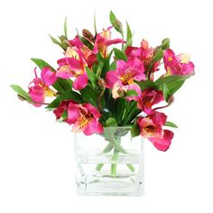 Alstroemeria Arrangement good idea for larger (seating 4 to 6)  in a smaller room