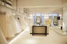 If you're planning to get hitched soon but haven't a clue about whose services to engage, then check out this list of Singapore's Top 10 Bridal Houses. Bridal Boutique Interior, Boutique Decor, Boutique Design, Brand Boutique, Rental Wedding Dresses, Wedding Dress Boutiques, Clothing Store Design, Fashion Showroom, Shop Interior Design