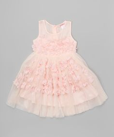 Look what I found on #zulily! Pink Ruffle Rosette Babydoll Dress - Toddler & Girls by Funkyberry #zulilyfinds