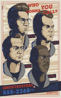 Who you gonna call ? Ghostbusters poster by Berkay Daglar Original Ghostbusters, Extreme Ghostbusters, Ghostbusters 1984, Best Movie Posters, Movie Poster Art, Film Posters, Dragons Online, Ghost Busters, Alternative Movie Posters