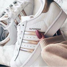 adidas superstar femme or rose