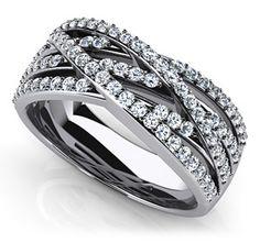 10 years baby!  Captivating Weaved Band Anniversary Ring