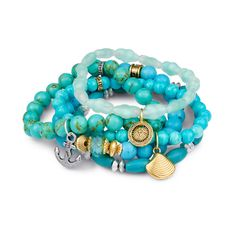 Give the gift that gives back! This $50 bracelet set benefit's Water.org... charity never looked so GOOD.
