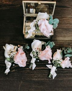 Boutonnières mix of texture colors and style! I just love to design them. Hair Piece, Just Love, Floral Wreath, Wreaths, Texture, Headpieces, Colors, Wedding, Instagram