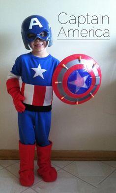 trajes de capitan america para niños con accesorios