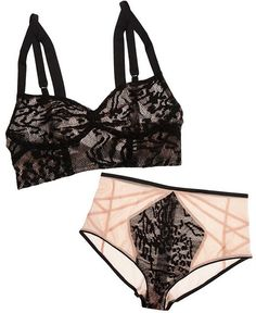 815543466137b The Lake and Stars Wave Lace Bustier Bra  amp  High-Waisted Briefs  lingerie