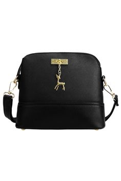Buy Womens Synthetic Leather Small Solid Handbag Cross-Body Shoulder Bags (Black) online at Lazada. Discount prices and promotional sale on all. Free Shipping.