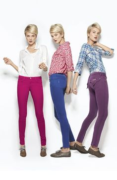 Into the colored jeans