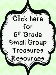 Comprehension questions and activities for all 5th grade treasures small group books!  Very helpful for reading groups and keeping your kids accountable.  $