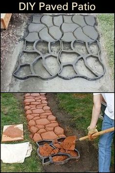 Home Discover Embark on a new and satisfying project with this DIY paved patio makeover! Paved Backyard Ideas, Paved Patio, Diy Patio, Backyard Patio, Backyard Landscaping, Landscaping Ideas, Garden Steps, Garden Paths, Garden Stepping Stones