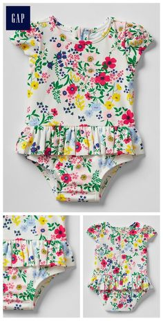 Floral peplum swim one-piece Product Image Kids Outfits Girls, Cute Outfits For Kids, Girl Outfits, Baby Girl Fashion, Kids Fashion, Trendy Baby Girl Clothes, Basic Wear, Girls Swimming, My Baby Girl