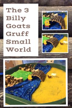 great bridge idea The Three Billy Goats Gruff Small World for EYFS Tuff Spot, Traditional Tales, Traditional Stories, Nursery Activities, Literacy Activities, Fairy Tale Theme, Fairy Tales, Billy Goats Gruff, Small World Play
